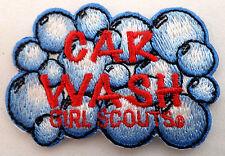 Girl Scouts Car Wash Soap Bubbles Uniform Patch #Gsbk