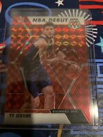 TY JEROME 2019-20 Panini Mosaic NBA DEBUT RED PRIZM RC Rookie SP #273 Suns