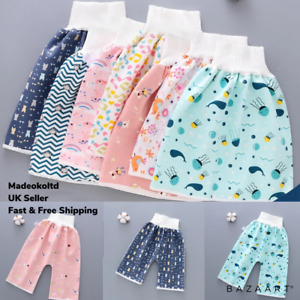 Comfy Childrens Diaper Skirt Shorts Waterproof and Absorbent Shorts Trousers UK