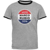 Election 2016 Marco Rubio Badge Heather/Black Men's Ringer T-Shirt