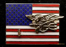 SEAL TEAM TWO 1 HAT LAPEL PIN UP US NAVY VETERAN FLAG AMERICAN