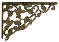 CAST IRON- Hummingbird Corner Brace Brackets  Shelf Lot Of 2 Wall Mount