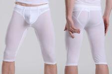 Cuissard Boxer long blanc plum Taille M très doux transparent sexy Ref P41