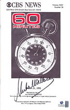Mike Wallace Autographed/Signed 60 Minutes Transcript With Global COA-Journalist
