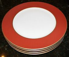 RAYNAUD Horizon Presentation / Charger / Buffet Red with gold filet - Set of 4