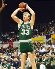 Larry Bird Boston Celtics jump shot green jersey 33  8x10 11x14 16x20 photo 473