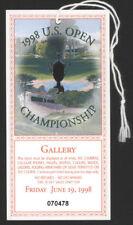 1998 U. S. Open Golf Championship Day Ticket - June 19