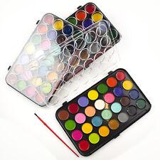 Water Colour Paints And Brush Set 28 Colors  Kids Art Craft Artist Box Case New