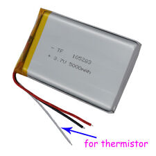 3.7V 5000mAh 3 wires thermistor Polymer Li Battery For iPod PDA Tablet PC 105283