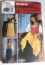 Simplicity UNCUT Renaissance Costume Dress Pattern 5582 4 6 8 10