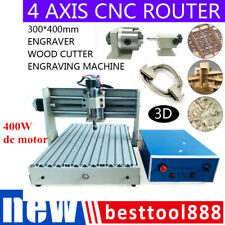 New Listing4 Axis Cnc 3040 Router Engraving Machine Desktop Engraver Drill Mill Machine
