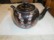 Vintage Wwii Pottery Teapot Escorted To Usa by Royal Navy England *Damaged