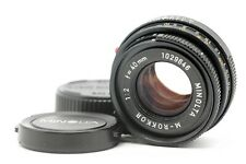 【EXC+5】 Minolta M-Rokkor 40mm F/2 For CLE CL Film Camra Leica M Mount From JAPAN
