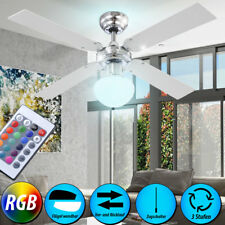 Leiser RGB LED Decken Ventilator Raum Lüfter Wärmer Farbwechsler Living-XXL