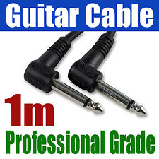 "1M ANGLE GUITAR AMP CABLE 6.35mm 1/4"" Jack Lead 