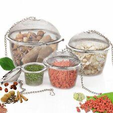 Stainless Steel Mesh Locking Spice Ball Infuser Strainer Net Tea Filter Spoon
