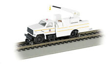 HO HI RAIL TRUCK W/CRANE DCC O/B UP            BAC16904  (ORGINAL BOX)