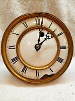 LFS  Lorenz Furtwängle Antique German Wall Clock Movement w/Porcelain Face Parts