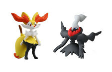 Set of 2 Pokemon Mini Figures Toys MC-020 Braixen/MC-041 Darkrai Takaratomy