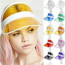 Women Transparent Sun Visor Hat Golf Tennis Men Visor Sun Plain Hat Sports Cap