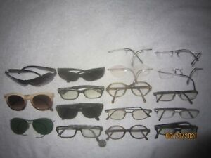Mix Lot of 17 Sun/Eyeglasses RIMLESS MEN WOMEN Retro Vintage BIG WIDE