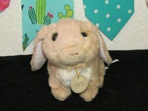 "Miyoni Tots Aurora Lop Ear Bunny Rabbit Baby Stuffed Apricot Beige Plush Toy 7"""