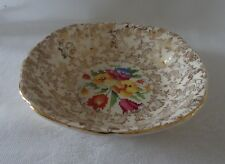 Vintage Tunstall  Lot 4 Fruit Nappies bowl  OLD ENGLISH SAMPLER Chintz & Gold