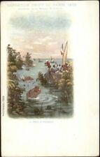 1900 Universelle Expo Paris La Mer D'Herbes Mission Marchand Postcard
