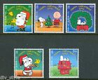 Snoopy Christmas Peanuts set of 5 mnh stamps 2001 Gibraltar #890-4 Charlie Brown