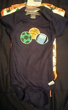 Gerber Baby Boys Onesies Bodysuits New 3 pack Size 0-3 month Sport/Stripe Design