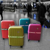 Personalised Luggage Strap Safe Lock Belt 180cm x 5cm Printed or Embroidered