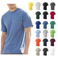 Hanes Beefy-T T-Shirt Tagless Pocket 6.1 oz. 100% Cotton Mens Tee 5190 S-3XL