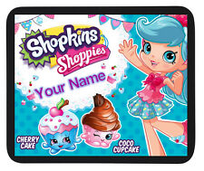 Personalised custom shopkins tapis de souris/dîner tapis-enfants-cadeau parti
