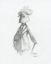 Mike Mignola Original Rooster Head Sketch