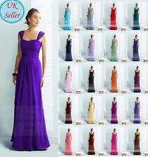 A-Line/Princess Full-Length Chiffon Bridesmaid Prom Dress JS17 size 6-22