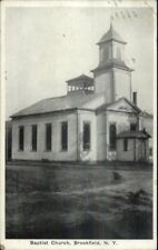 Brookfield NY Baptist Church Old Postcard