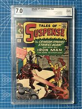 TALES OF SUSPENSE 52 PGX 7.0 1st BLack Widow, Like CGC Could Use  Press / Clean