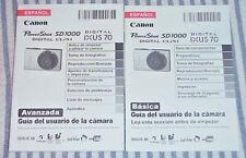 User Manual = Canon Sd1000 Digital Camera - Basic & Advanced Guides (Espanol)