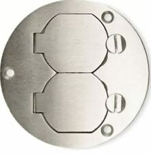 Hubbell Wiring Systems SA3925 Aluminum Round Floor Box Duplex Flap Single