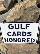 Gulf Credit Card Sign