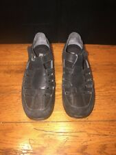 Drew, Ginger, Black Leather Fisherman Therapeutic Shoes, Women's Size 6M