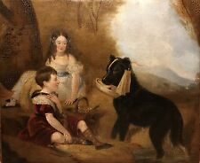 Late 18th century / Early 19th Century Antique Oil Painting, Boy In Dress