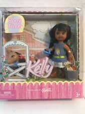 "Barbie Kelly Doll ""pony time"" new in box AA African American"