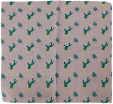 "Wholesale Lot of 12 Cactus Light Pink 22""x22"" 100% Cotton Bandanna"