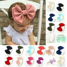 Baby Big Bow Hairband Toddler Stretch Turban Head Wrap Girls Knot Headband