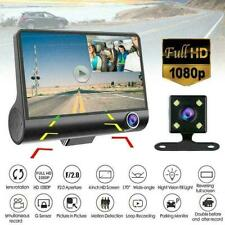 "1080P 4"" Dual Lens Car DVR Rearview Video Dash Cam Reco G-sensor HOT L0Z1 P9H4"