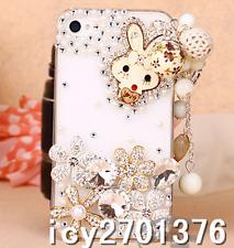 Phone Case Bling Diamond 3D Rhinestone Luxury Glitter tassel Design Cover Skin H