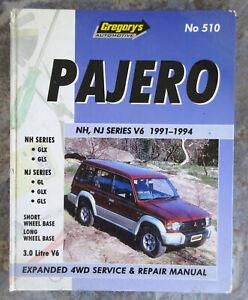 Mitsubishi Pajero NH, NJ V6 1991-1994 Owners Workshop Manual Gregory's  #510