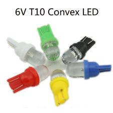 100 Pcs 6V 6.3V White T10 168 194 Led Wedge Bulb W5W Convex Pinball LED Lights