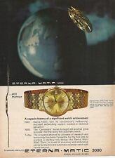 ETERNA-MATIC 3000 Watch 1964 Vintage Print Ad 52 8